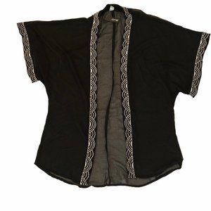 NWT Apt. 9 Black Sheer Kimono